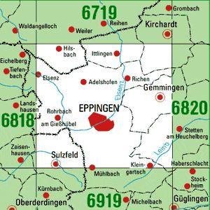 6819 EPPINGEN topographische Karte 1:25.000 Baden-Württemberg, TK25