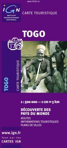 Togo Straßenkarte, 1:500.000, IGN