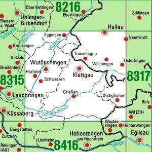 8316 KLETTGAU topographische Karte 1:25.000 Baden-Württemberg, TK25