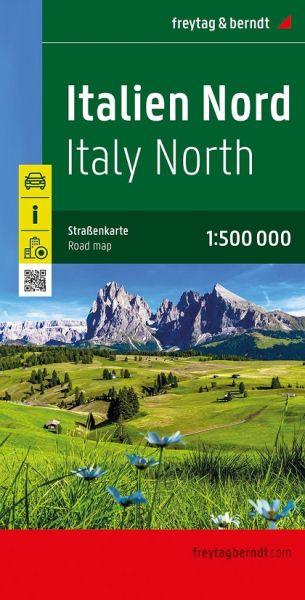 Italien Nord, Straßenkarte, 1:500.000, Freytag & Berndt