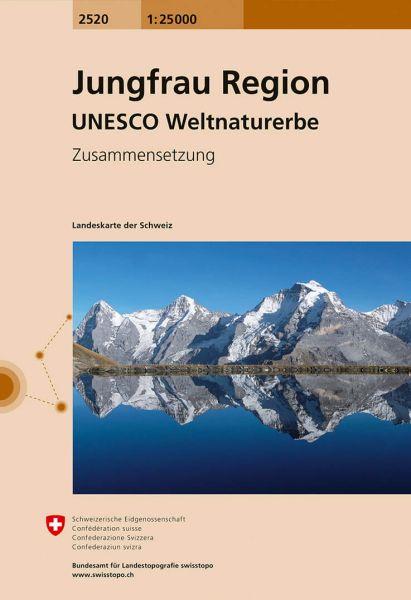 2520 Jungfrau Region topographische Wanderkarte Schweiz 1:25.000