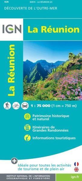 La Reunion Straßenkarte 1:75.000, IGN