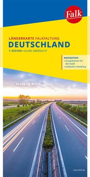 Deutschland Straßenkarte Falkfaltung, 1:650.000, Falk