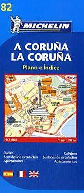 Michelin 82 La Coruna Stadtplan 1:7.000