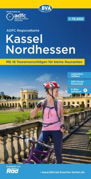 ADFC-Regionalkarte, Kassel und Nordhessen, Radwanderkarte, 1:75.000