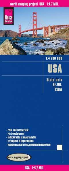USA Landkarte 1:4.700.000, Reise Know-How