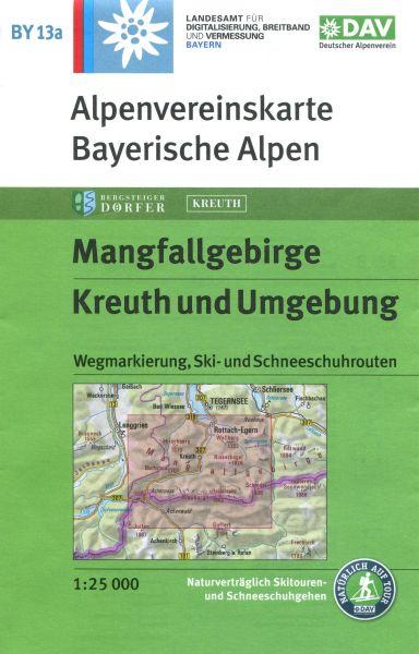 Alpenvereinskarte BY13a Mangfallgebirge, Kreuth und Umgebung, Wanderkarte 1:25.000