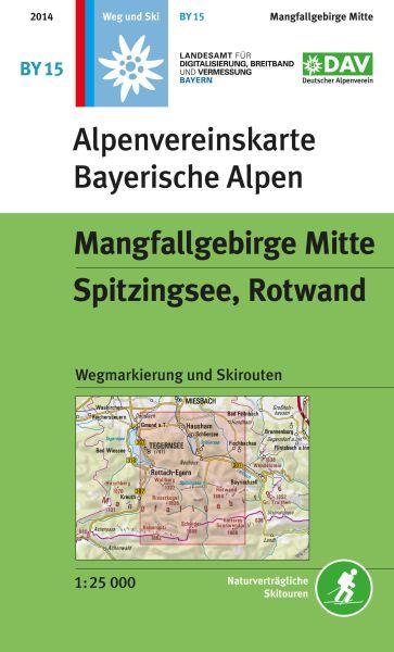 Alpenvereinskarte BY15 Mangfallgebirge Mitte Wanderkarte 1:25.000