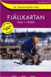 Fjällkartan Z4 Schweden Trekking- und Wintersportkarte 1:100.000