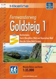 Goldsteig 1, Hikeline Wanderführer mit Karte