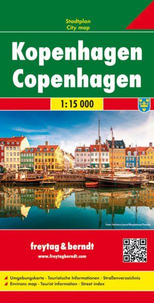 Kopenhagen, Stadtplan 1:15.000, Freytag und Berndt