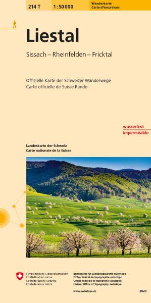 214 T Liestal Wanderkarte 1:50.000 - Swisstopo