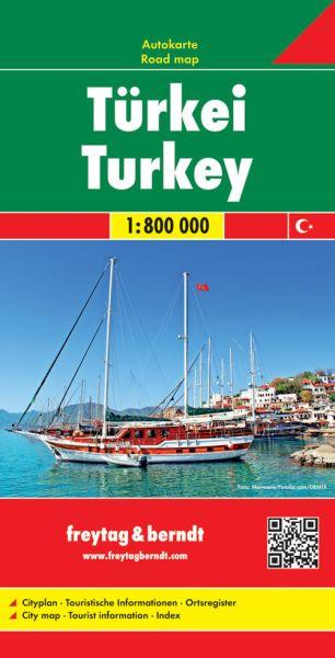 Türkei, Straßenkarte 1:800.000, Freytag und Berndt