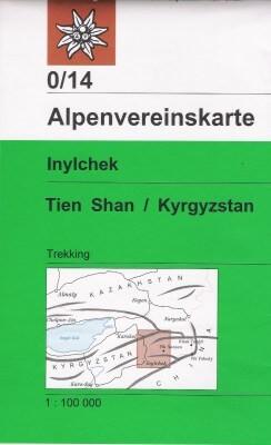 Alpenvereinskarte 0/14 Inylchek, Tien Shan-West, 1:100.000