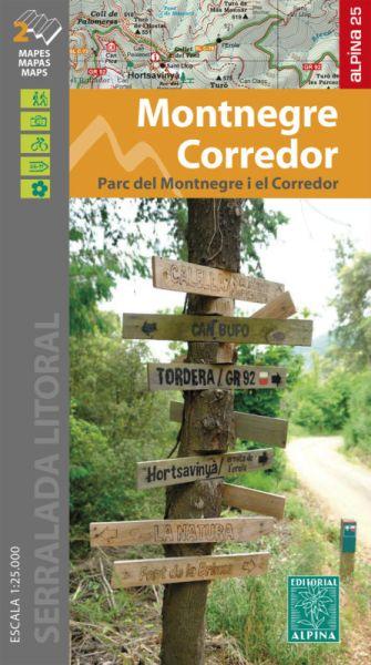 Montnegre - Corredor Wanderkarte 1:25.000 - Editorial Alpina