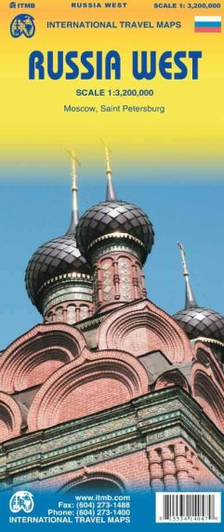 Russland West Landkarte 1:3.200.000, ITM