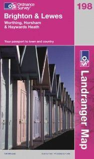 Landranger 198 Brighton & Lewes Wanderkarte 1:50.000 - OS / Ordnance Survey