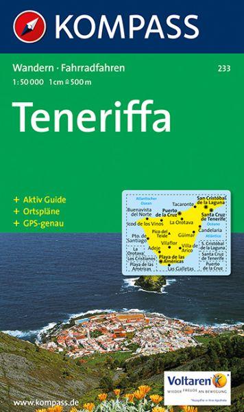 Karte Von Teneriffa.Kompass Karte 233 Teneriffa 1 50 000 Wandern Rad