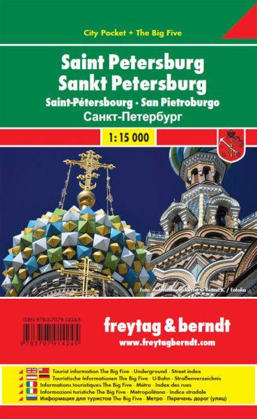 St. Petersburg, Stadtplan .1:20.000, Freytag und Berndt