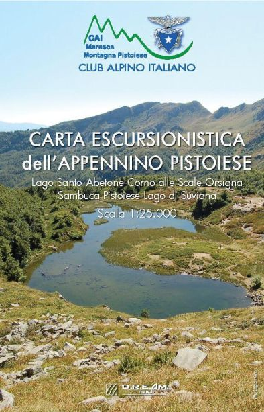 Appennino Pistoiese Wanderkarte 1:25.000, D.R.E.AM. Italia mit Lago Santo, Abetone