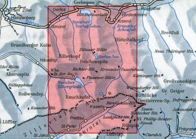 DAV Alpenvereinskarte 35/3 Zillertaler Alpen Ost, Skikarte 1:25.000