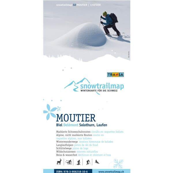 Snow Trail Map 32, Moutier 1:50.000 – Schneeschuhwander-Karte