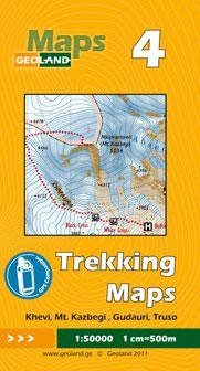 Khevi, Mt. Kazbegi, Gudauri, Truso - Georgien Trekkingkarte 1:50.000 – Geoland 4