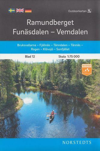 Ramundberget - Funäsdalen - Vemdalen, Outdoorkartan Blatt 12, Schweden Wanderkarte 1:75.000