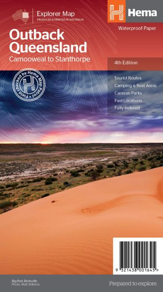 HEMA Regional Map Queensland's Outback 1:2.000.000