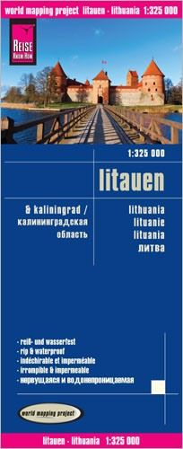 Litauen & Kaliningrad Landkarte 1:325.000, Reise Know-How