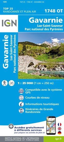 IGN 1748 OT Gavarnie, Luz-St-Sauveur, Frankreich Wanderkarte 1:25.000