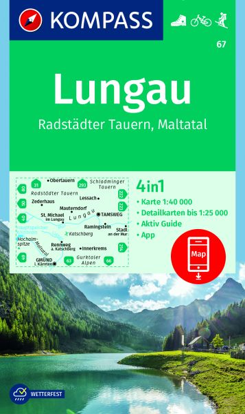 Kompass Karte 67 Lungau Wanderkarte Radkarte