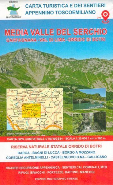 Edition Multigraphic 20, Media Valle del Serchio Toskana - Emilia Romagna 1:25.000