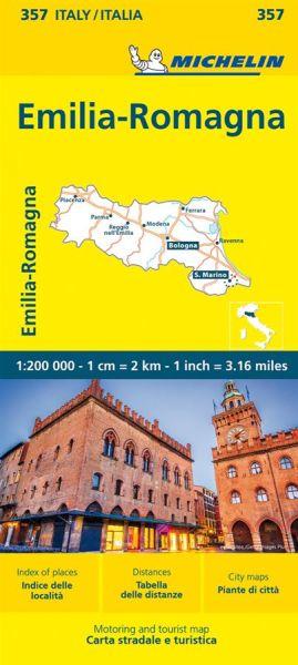 Michelin 357 Emilia-Romagna Straßenkarte 1:200.000