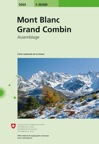 5003 Mont Blanc - Grand Combin topographische Wanderkarte Schweiz 1:50.000
