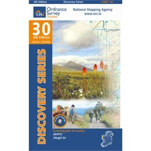OSI 30 Mayo (W CENT) Wanderkarte 1:50.000 - Ordnance Survey Ireland