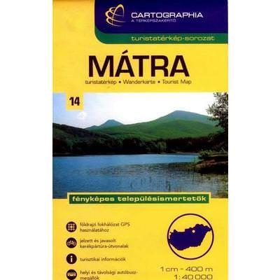 Ungarn Wanderkarte: Mátra / Matra-Gebirge topographische Wanderkarte 1:40.000