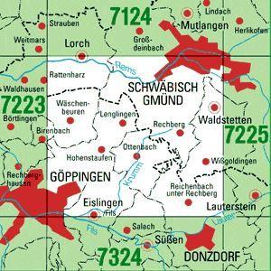 7224 SCHWÄBISCH GMÜND-SÜD topographische Karte 1:25.000 Baden-Württemberg, TK25
