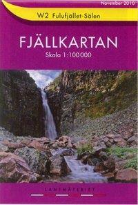 Fjällkartan W2 Schweden Trekking- und Wintersportkarte 1:100.000