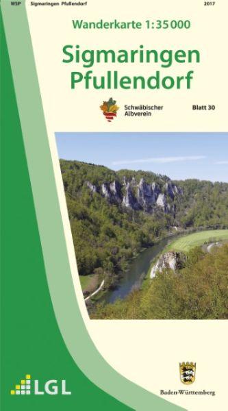 Sigmaringen - Pfullendorf Wanderkarte 1:35.000 Schwäbischer Albverein