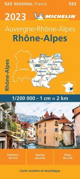 Michelin regional 523 Rhônetal, Franz. Alpen wetterfeste Karte 1:200.000