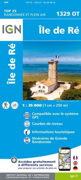 IGN 1329 OT Ile de Re, St.-Martin-de-Re, Frankreich Wanderkarte 1:25.000