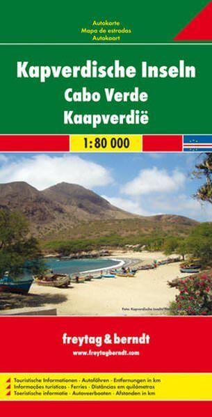 Kapverdische Inseln, Straßenkarte 1:80.000, Freytag und Berndt