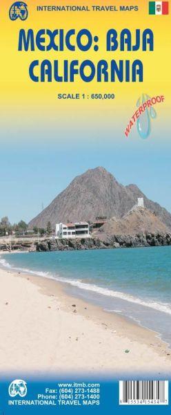Mexiko: Baja California Landkarte 1:650.000, ITM