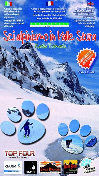 Piemont Skitourenkarten: Valle Stura 1:25.000, wasser- und reißfest