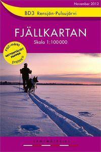 Fjällkartan BD3 Schweden Trekking- und Wintersportkarte 1:100.000