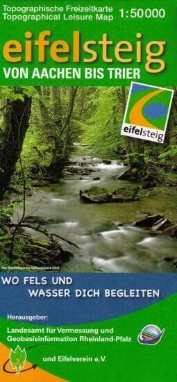 Eifelsteig Wanderkarte von Aachen bis Trier 1:50.000