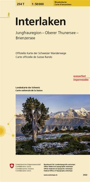 254 T Interlaken Wanderkarte 1:50.000 wasserfest - Swisstopo