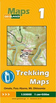 Omalo, Abano-Pass, Mt. Diklosmta - Georgien Trekkingkarte 1:50.000 – Geoland 1