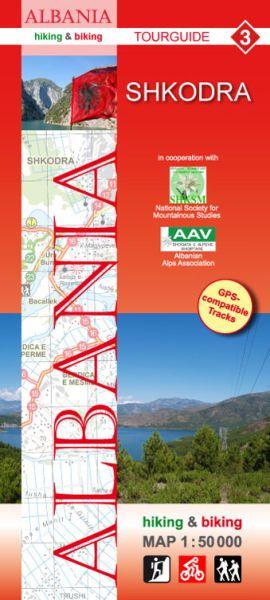 3 Shkodra: Albanien Wander- und Radwanderkarte 1:50.000